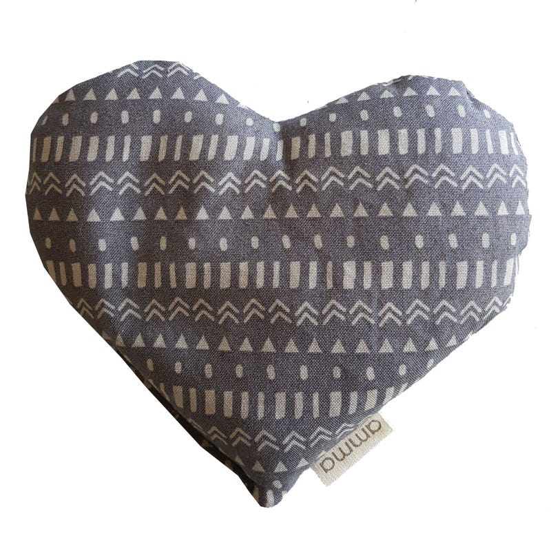 Heart Comfort Cushion - Navajo Gray