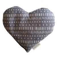 Coussin Cœur Réconfort - Navajo Gris
