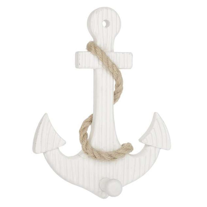 Anchor And Cord Decorative Hook
