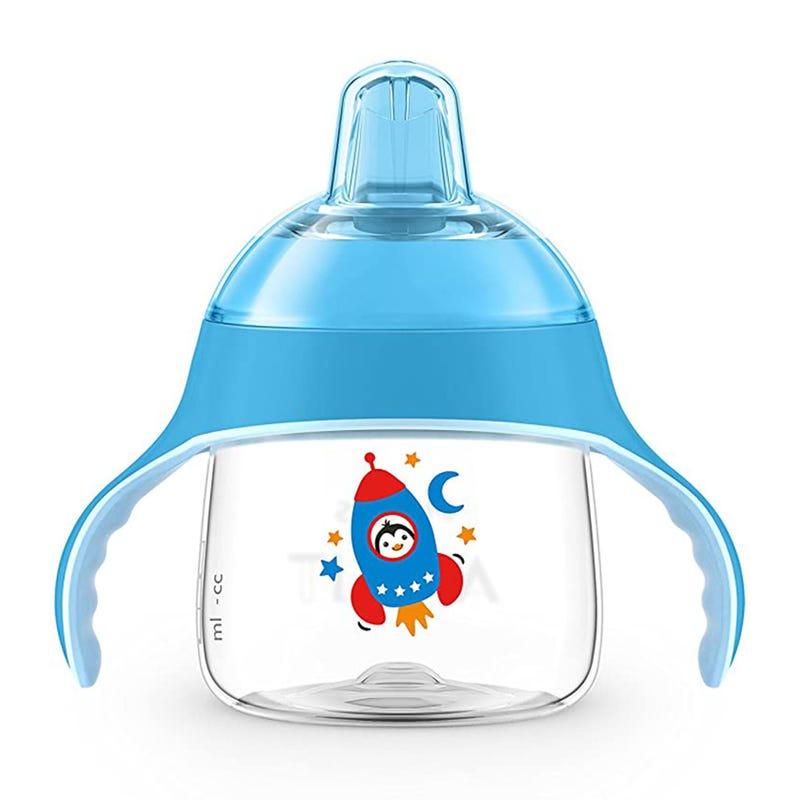 Gobelet à Bec Souple avec Poignée 7oz - Bleu