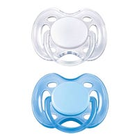 Free Flow Pacifiers 0-6months Set of 2