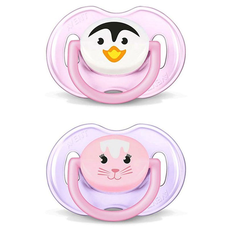 Animals Pacifiers 0-6months Set of 2