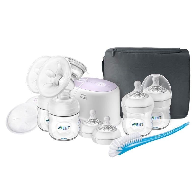 Double Electric Breast Pump with Bottles & Brush set