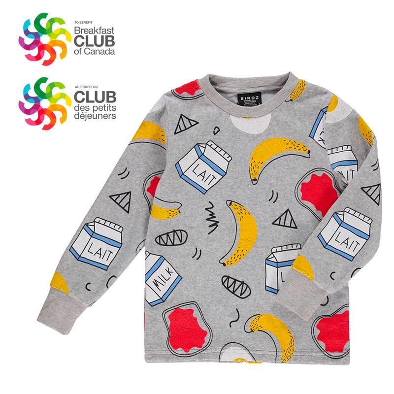T-Shirt Manches Longues Club des Petits Déjeuners 3-8ans