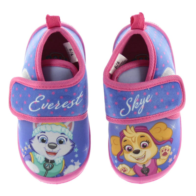 Paw Patrol Slippers Sizes 5-12 - Purple