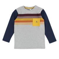 T-Shirt Rayé Poche Espace 2-8
