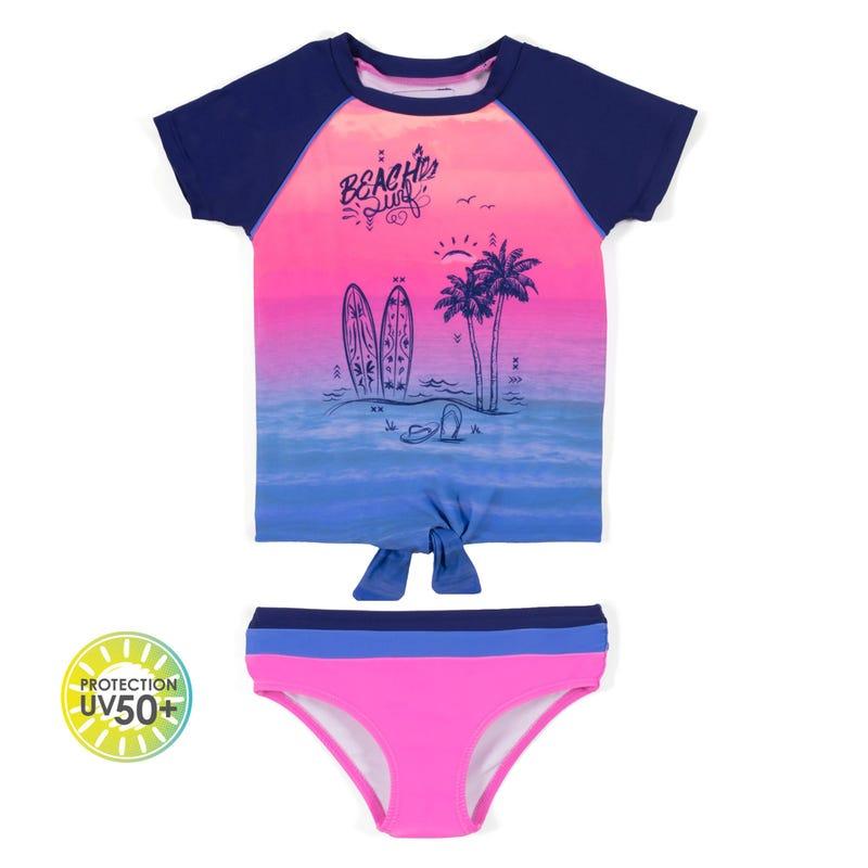 Beach 2pcs swimsuit 7-14y