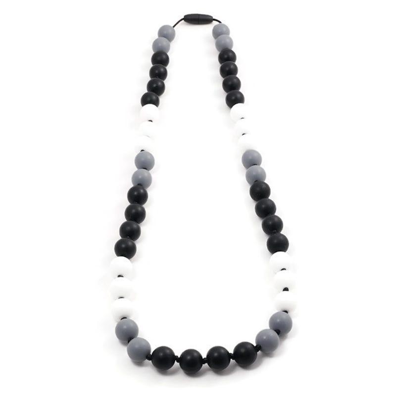 Collier Maman 82cm- Blanc/Gris/Noir