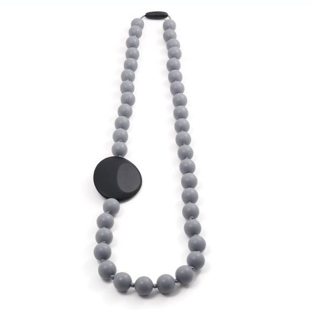 Mommy Necklace80cm- Gray/Black