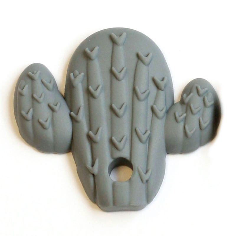 Cactus Teether - Gray