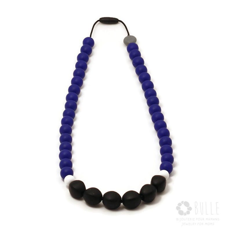 Mommy Necklace 82cm - Blue/White/Black