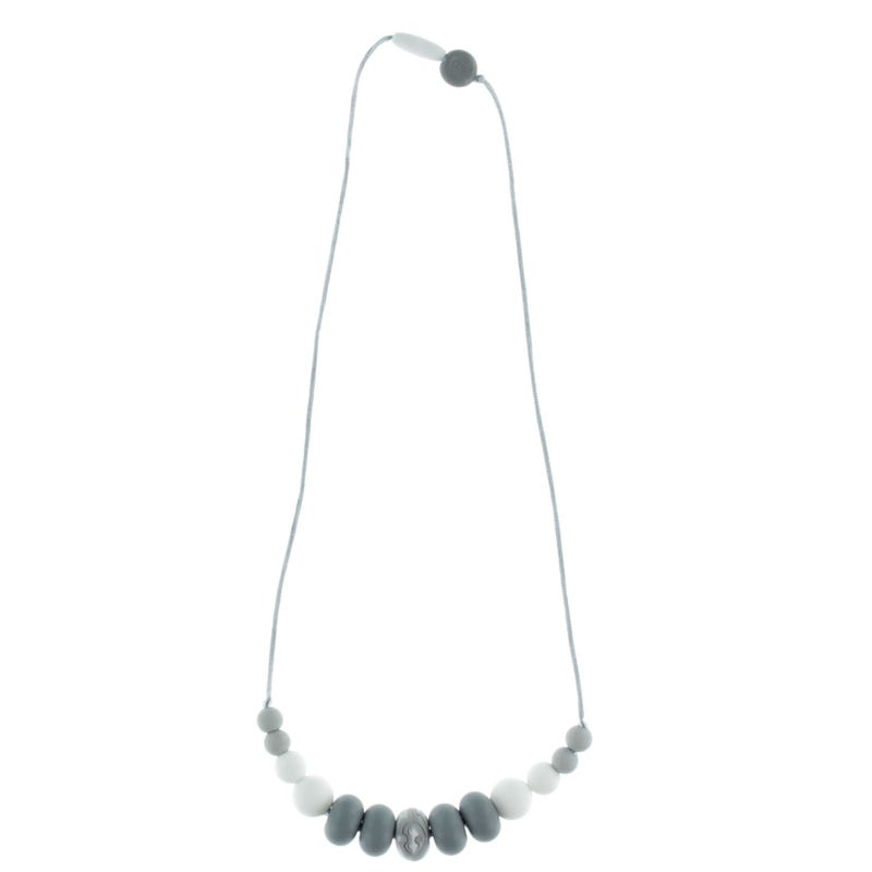 Mommy Necklace - Gray/White/Marble