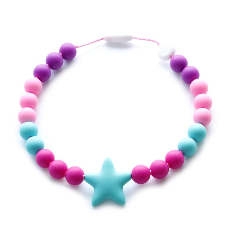 Collier Enfant - Rose/Turquoise
