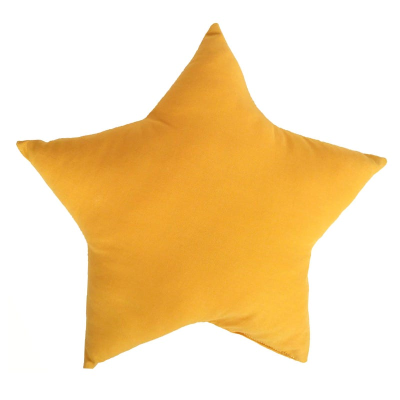 Coussin Étoile - Moutarde