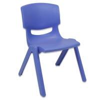 Chaise Plastique- Bleue