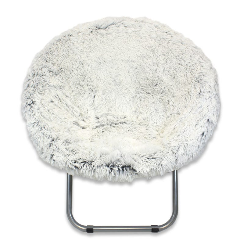 Fur Moon Chair - White