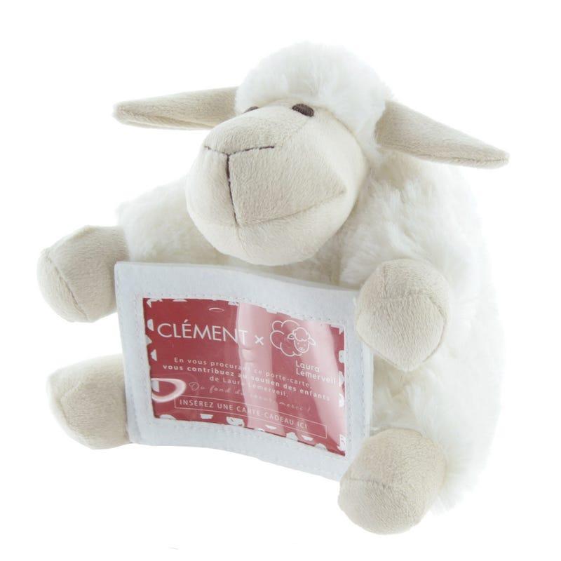 Peluche Porte-Carte Mouton Laura Lémerveil