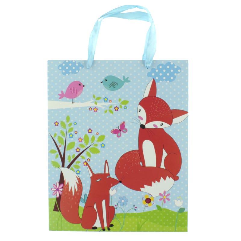 Fox Gift Bag - Blue