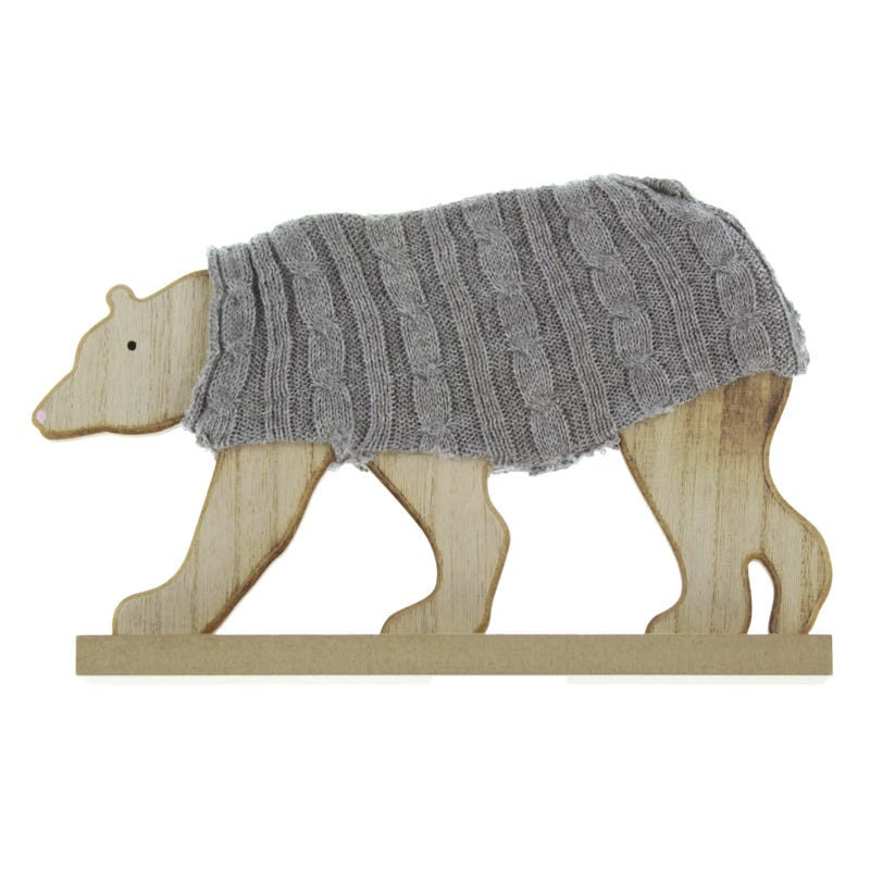 Bear with Wool - Gray