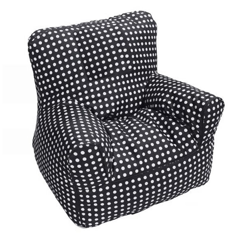 Sofa Black With White Dots