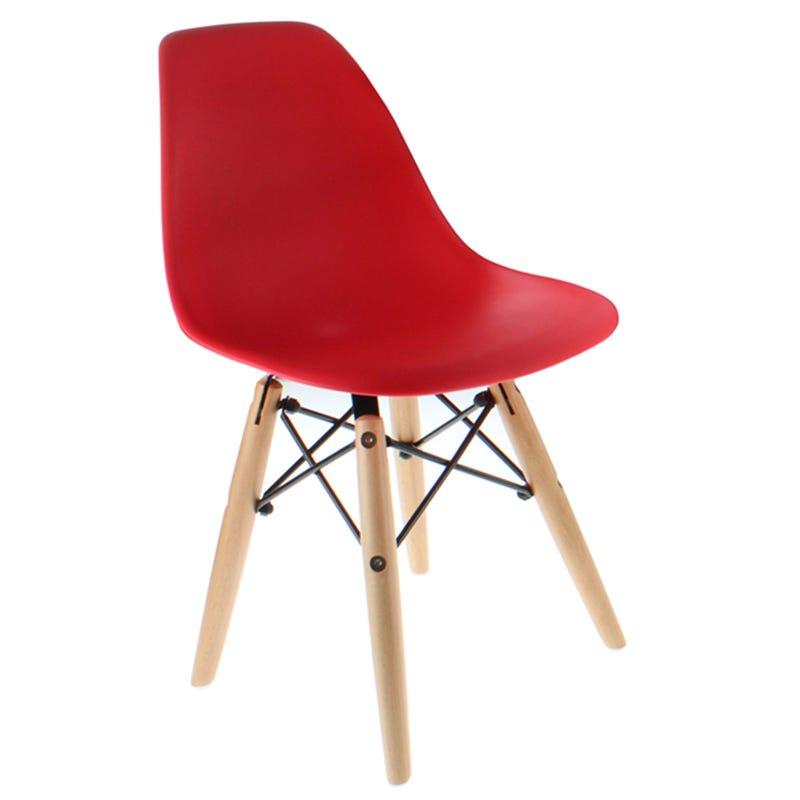 Chaise Plastique pour Enfant- Rouge