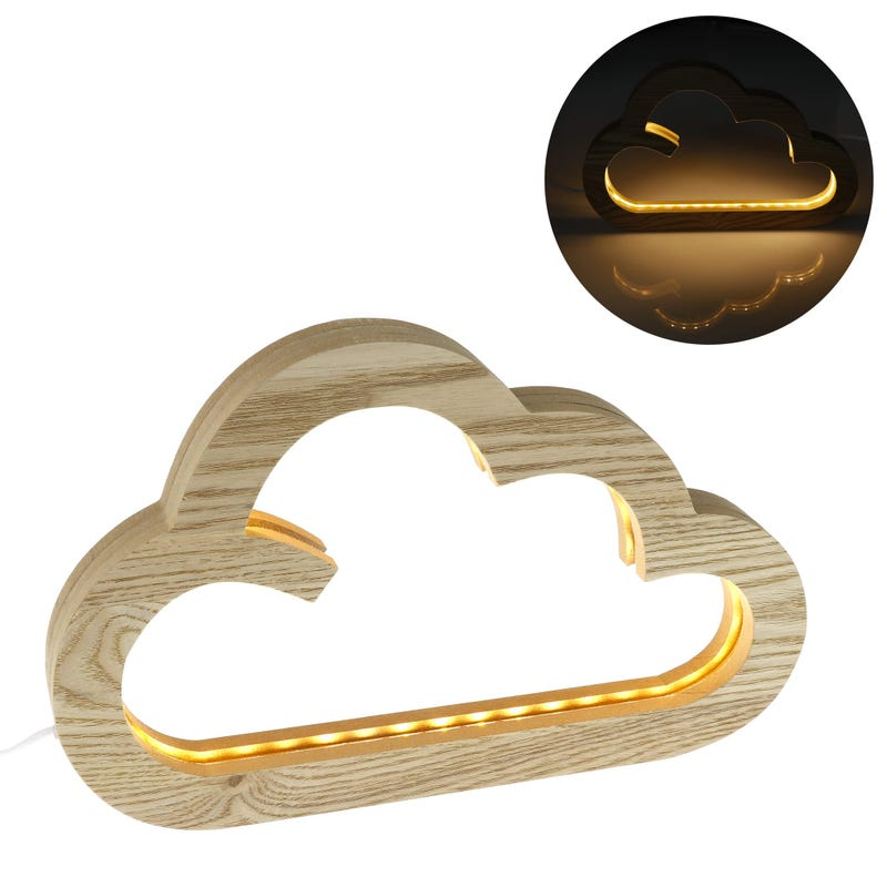Fox Wood Led Night Light