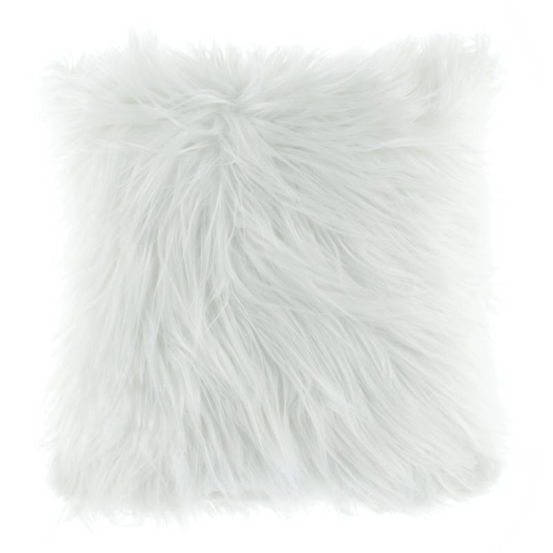 Fur Cushion - White