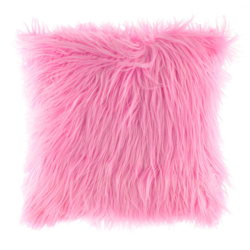 Fur Cushion - Pink