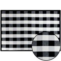 Plaid Decorative Rug - Black/White