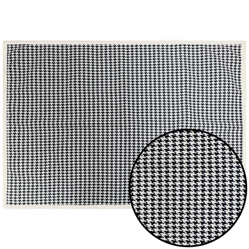 Foot Decorative Rug - Black/White