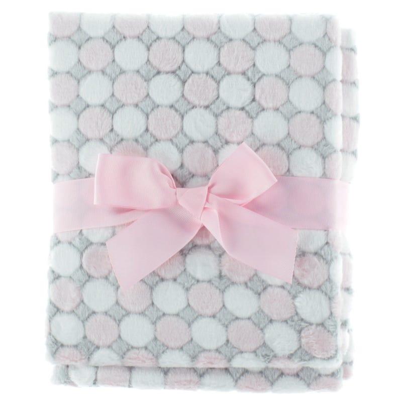Circles Blanket - Pink/Gray