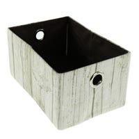 Wood Imitation Basket - White