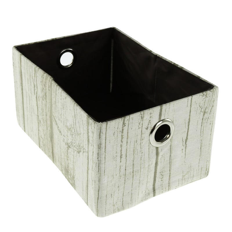 Wood Imitation Basket - White