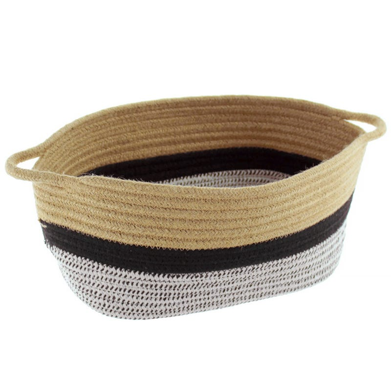 Basket - Beige/Black/White