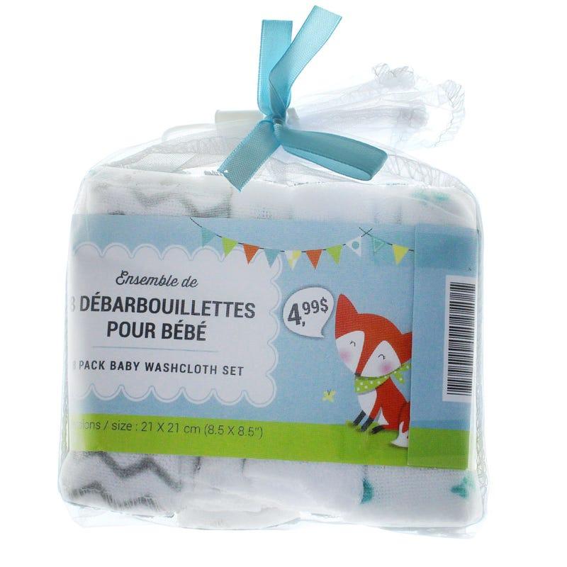 Washcloth 8-Pack- Blue