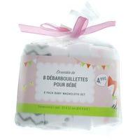 Washcloth 8-Pack - Pink