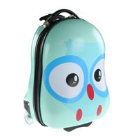 Owl Suitcase - Blue