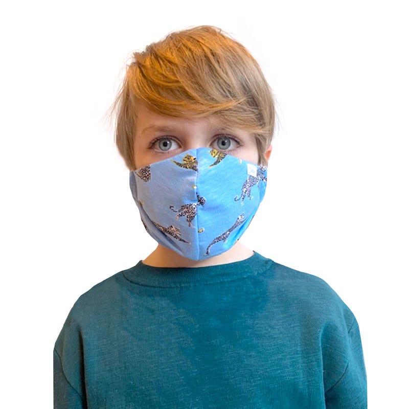 Protection Mask 2-16y - Blue Leopard