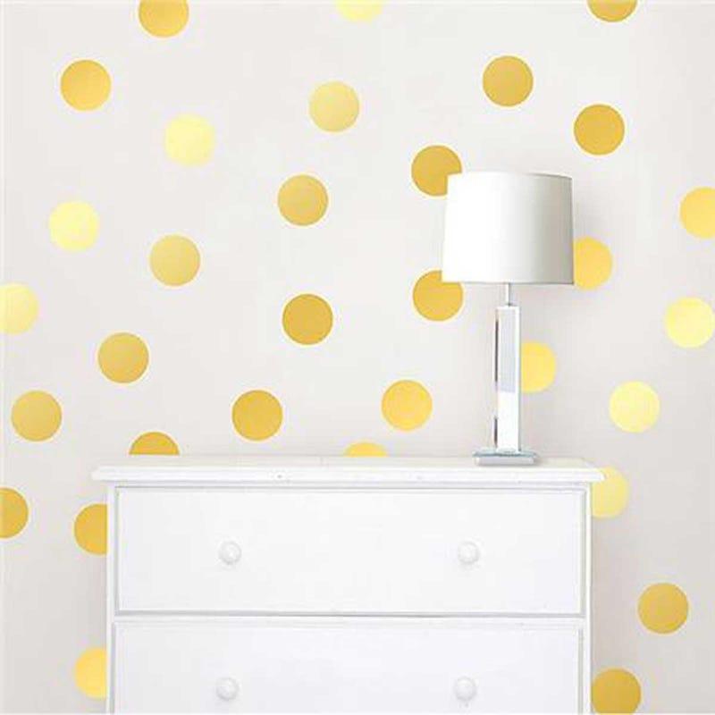 Wall Stickers - Metallic Gold Confetti Dot