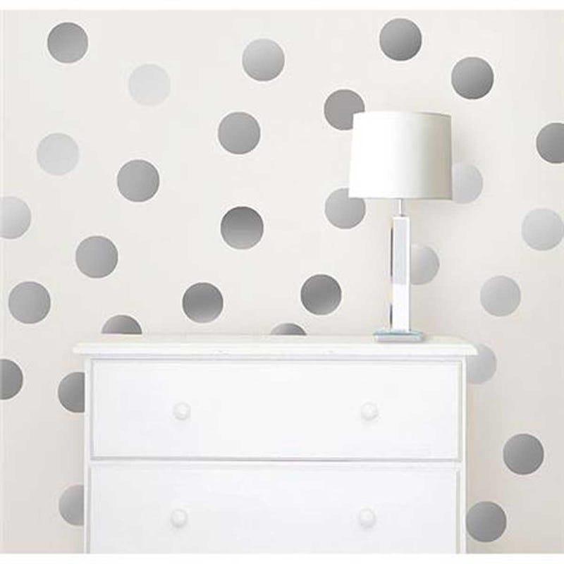Wall Stickers - Metallic Silver Confetti Dot