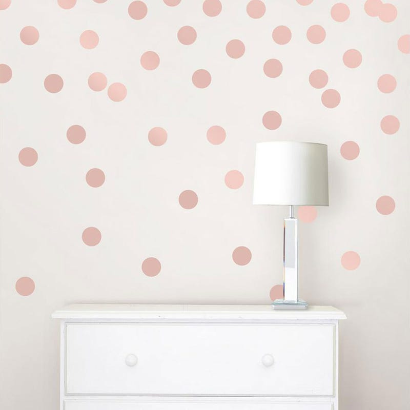 Wall Stickers - Rose Gold Confetti Dot