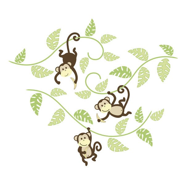 Wall Stickers - Monkeying Around