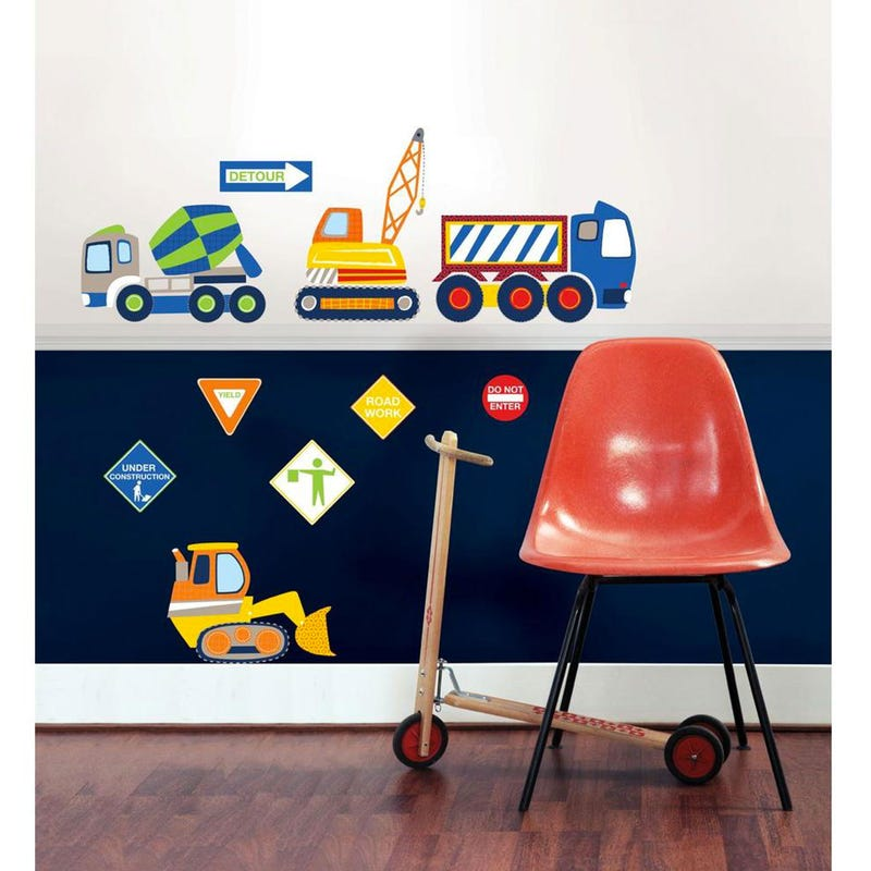 Wall Stickers - Construction Zone