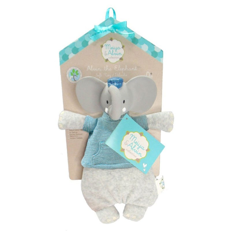 Soft And Teething Toy - Alvin The Elephant