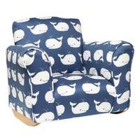 Rocking Chair - Blue Whales