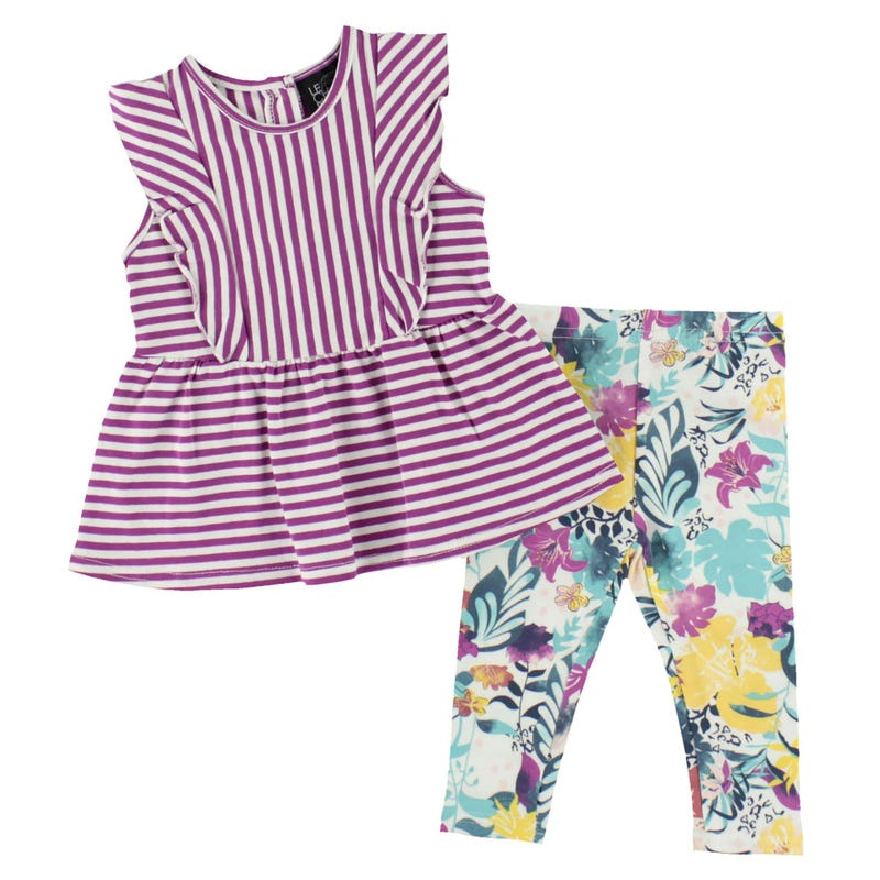 Fun Flower Pant Set 3-24m