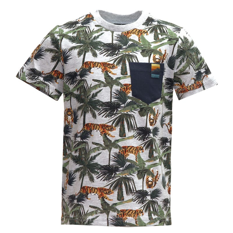 T-Shirt Poche Tigre Jungle 2-8ans