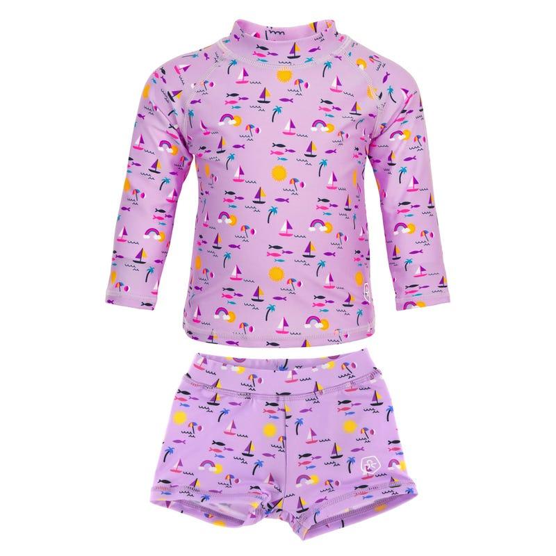 T-Shirt Maillot UV 2 Pièces 12-24mois