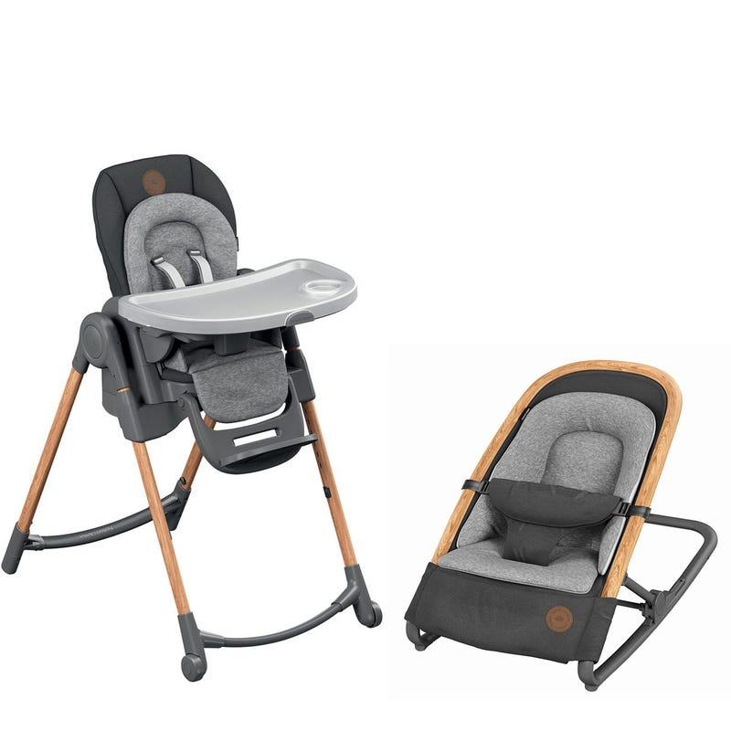 Bundle Minla High Chair and Kori Rocker- Graphite