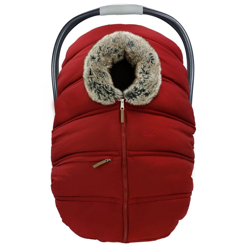 Winter Baby Car Seat Cover - Red